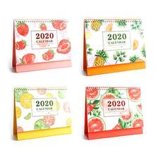 Fresh Fruit Pattern Desktop Standing Paper 2020 Double Coil Calendar Memo Daily Schedule Table Planner Yearly Agenda Organizer(China)