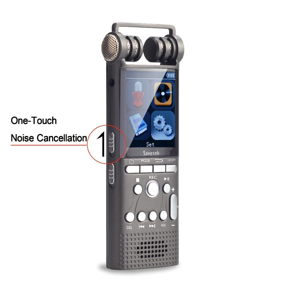 Micr/ófono Incorporado TENSAFEE 16GB Grabadora de Sonido Estereo Grabadora Audio Digital Portatil con Reproductor de MP3 Bater/ías Recargables Grabadora de Voz Digital