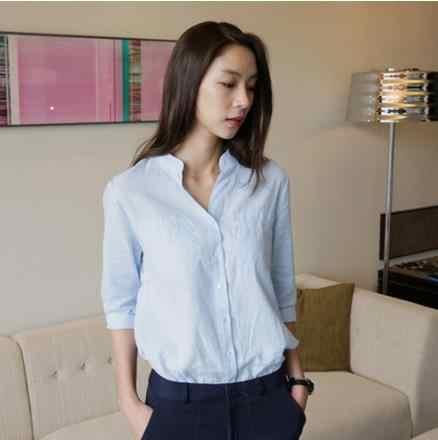 נשים שיפון חולצה חולצה 2019 נשי בגדים ארוך שרוול Blusas שיפון נשים של משרד חולצות הדפסת לבן גברת OL למעלה LJ401