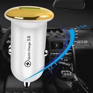 Image 4 - Mini cargador rápido de 18W para coche, adaptador de cargador de coche USB de carga rápida 3,0, carga automática para iPhone 11 Pro XR, Cable de teléfono móvil