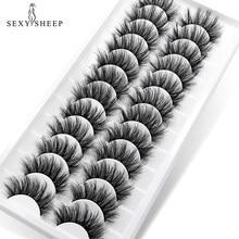 SEXYSHEEP faux cils 5/16/12 paires 3D Faux cils naturels Extension de cils longs Faux cils de vison pour la beauté maquillage