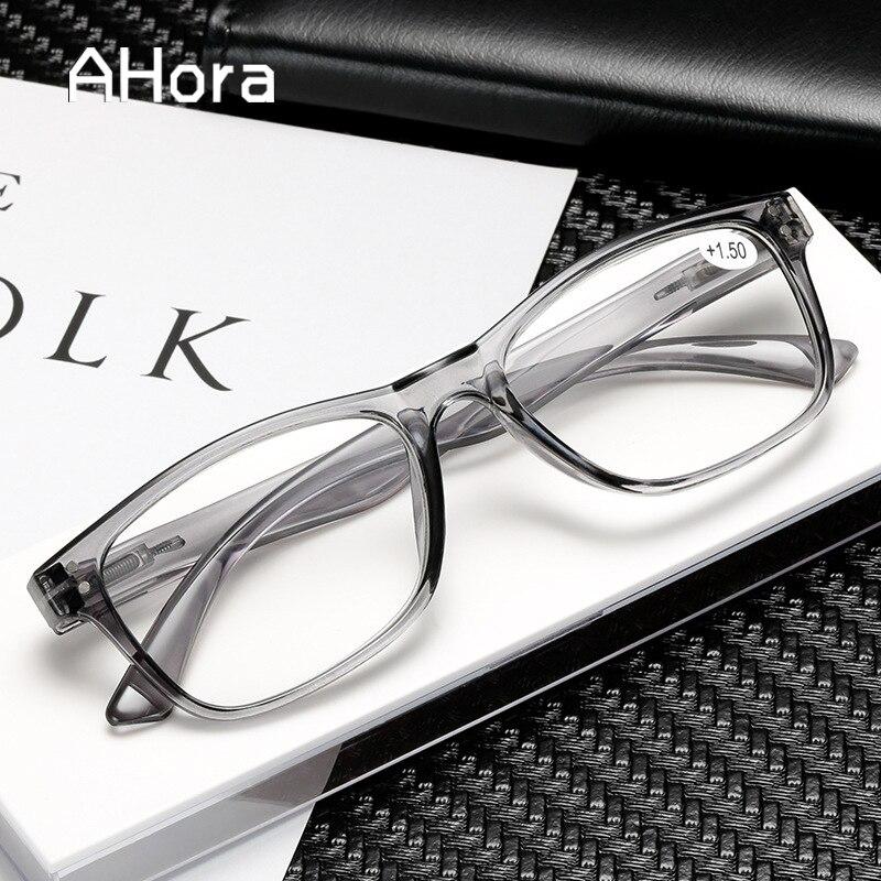 Ahora 2020 Fashion Transparent Reading Glasses Ultralight Women&Men Clear Lens Presbyopic Eyeglasses Eyewear+1.0+1.5+2.0...+4.0