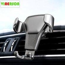 Suporte do telefone do carro universal de couro gravidade suporte do carro suporte de ventilação ar montagem para iphone 8 xs xr samsung suporte telefone voiture