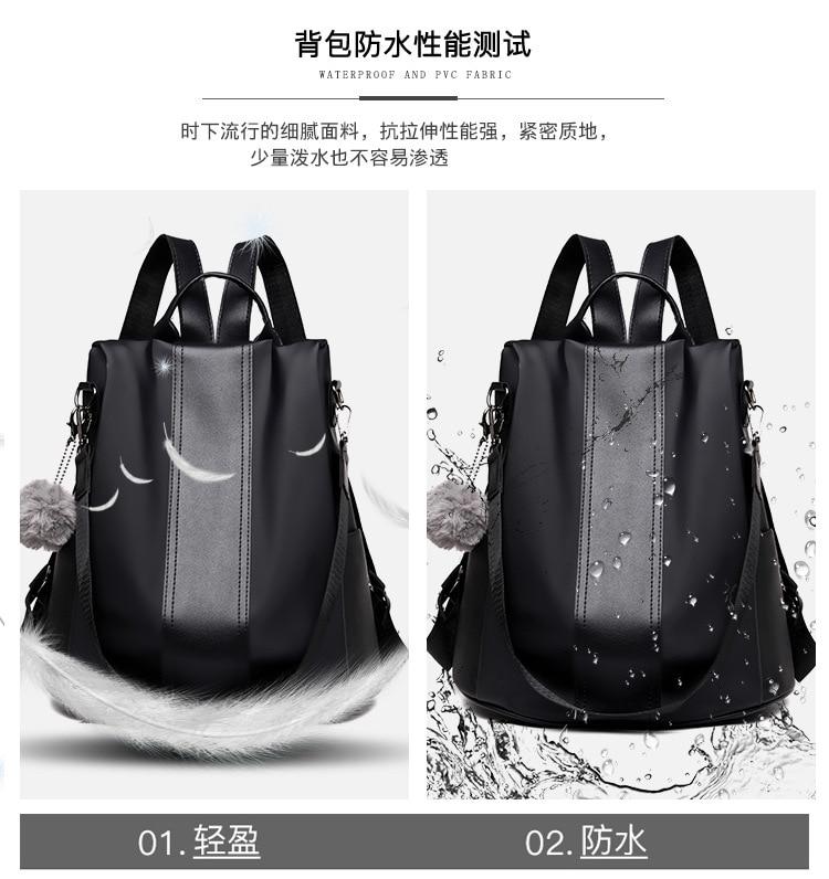 H56fff0eb8b85468692a391c249e70be0B 2019 Women Leather Anti-theft Backpacks High Quality Vintage Female Shoulder Bag Sac A Dos School Bags for Girls Bagpack Ladies