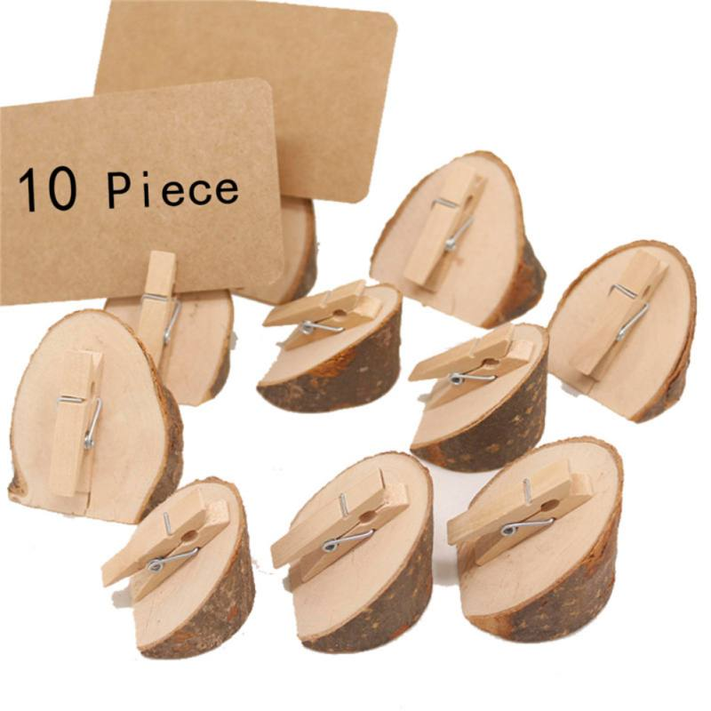 Wooden Base Rustic Wedding Table Number Place Name MEMO Card Stand Holders New