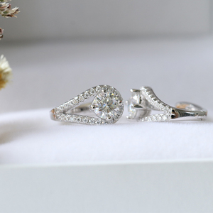 Image 4 - Doveggs sterling solid 925 prata 0.82ctw 5mm h cor centro moissanite hoop brincos para o noivado feminino