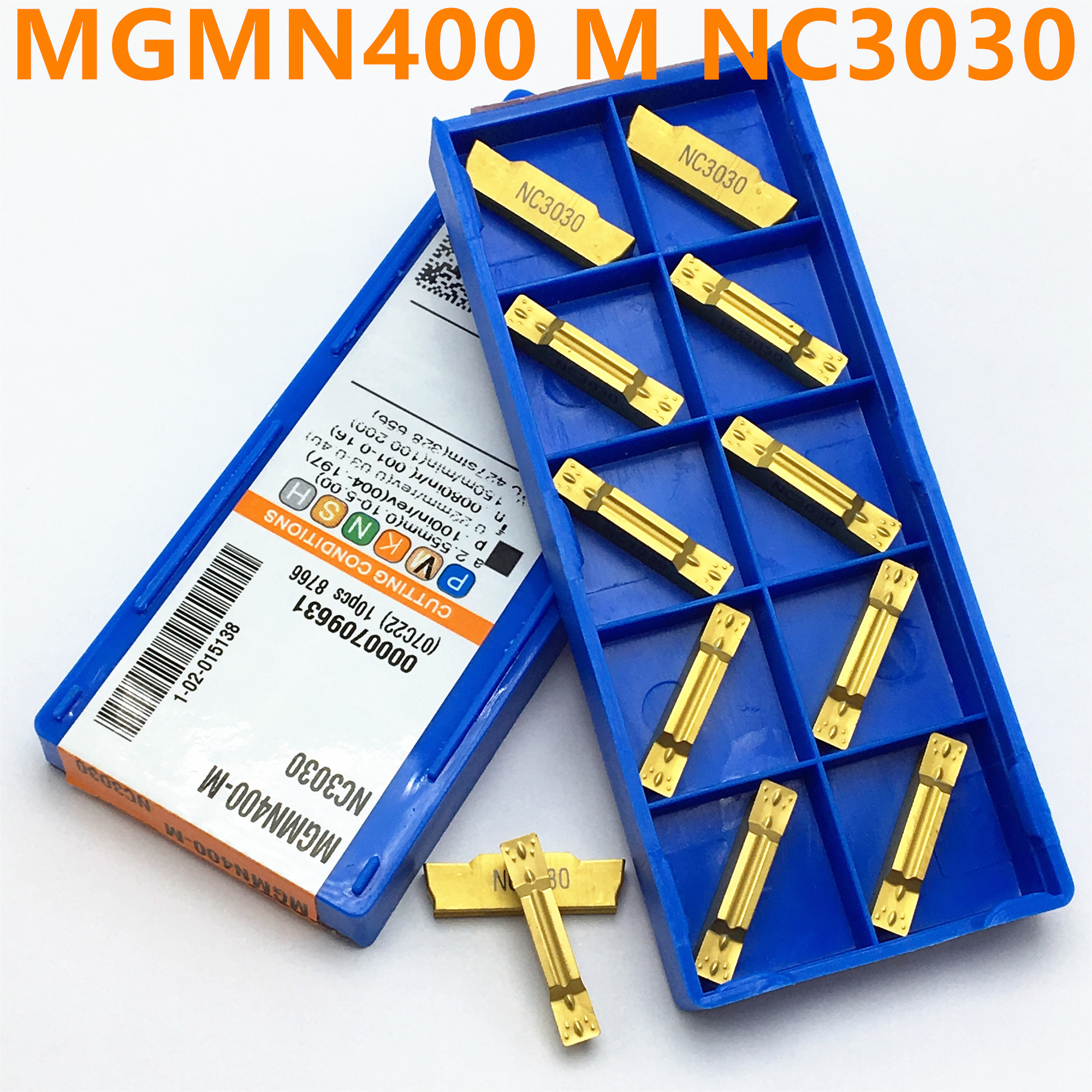 10PCS MGMN400 M NC3030 NC3020 PC9030 4mm Slotted Carbide MGMN400-M Lathe Milling Cutter Turning And Grooving Tool Cutting