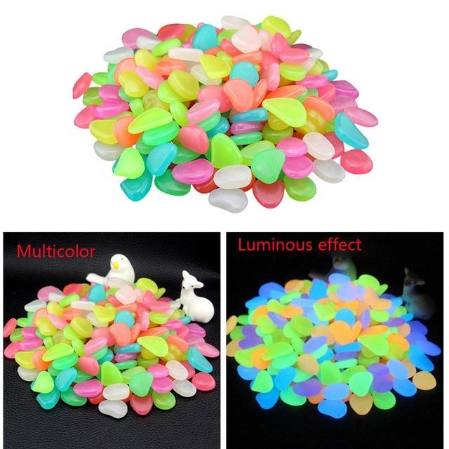 50 Pcs Kids Toys Glow in Dark Pebbles Glow Stones Rocks House Room Tent Walkway Garden Aquarium Fish Tank Light Luminous Stones