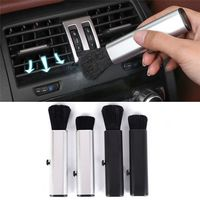 Sortie de climatisation de voiture brosse de nettoyage réglable sortie d'air brosse de dépoussiérage tableau de bord de voiture coutures brosse|Éponges  tissus et Brosses|Automobiles et Motos -