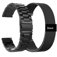 Cinturini in acciaio inossidabile 22MM per Xiaomi Mi Watch Color Smart Watch Band Bracelet per Amazfit Pace GTR 47MM/GTR 2 2E/hay485 LS02