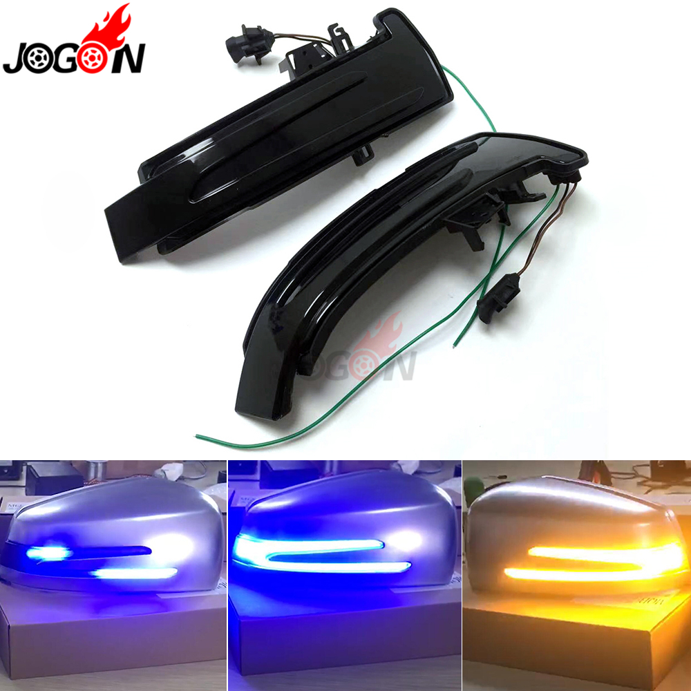 Blue Yellow For <font><b>Benz</b></font> A B C E CLA GLA CLS Class W176 W204 W212 C117 X156 <font><b>W221</b></font> LED Dynamic Turn Signal Indicator Sequential <font><b>Light</b></font> image