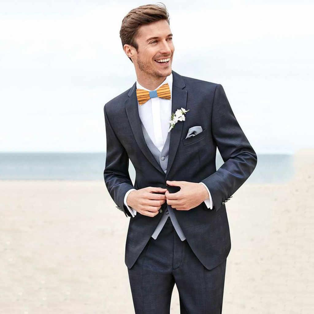 JAYCOSIN ربطة القوس فيونكة الأزياء الرجال رابطة خشبية ربطة العنق المنديل الذكور الخشب الجوف منحوتة و مربع بووتيس عالية الجودة