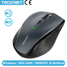 Ratón inalámbrico TeckNet M002 2,4 Ghz, ratón óptico inalámbrico, nanoreceptor USB para Notebook, PC, ordenador portátil, 4800DPI, 6 niveles