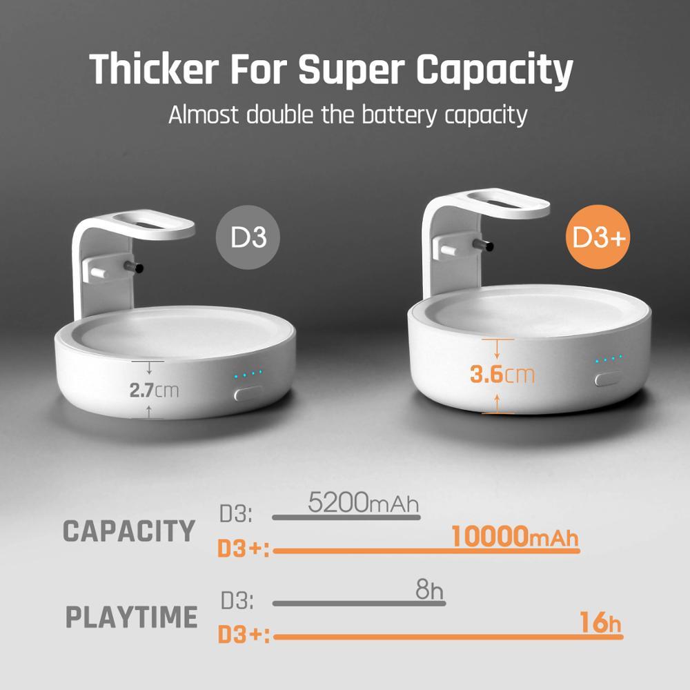 2020 Version GGMM D3+ Battery Base 10000mAh Charging Station For Amazon Echo Dot 3rd Gen Power Bank For Smart Speaker 16H Play 1
