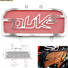 Motorcycle CNC Radiator Grill Black Guard Cover Protector protectio for KTM Duke 390 2013 2014 2015 Duke125 200 ABS