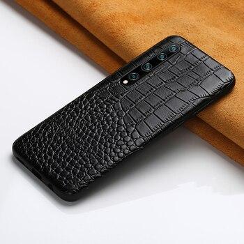 Genuine Leather phone case for Xiaomi Mi 10 Pro 9 Lite 9T 8 Note 10 A3 Poco X3 cover For Redmi Note 8 Pro 8T Note 9 Pro 9s 7 5
