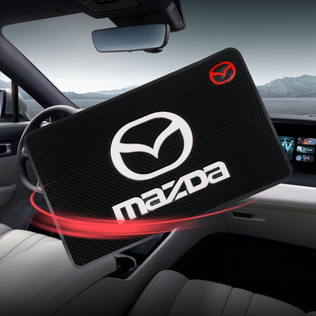 Car Logo Anti Slip Mat Phone Holder Non-Slip Mat non slip Pad for Mazdas 5 6 323 626 RX8 7 MX3 MX5 Atenza Axela Car Accessories
