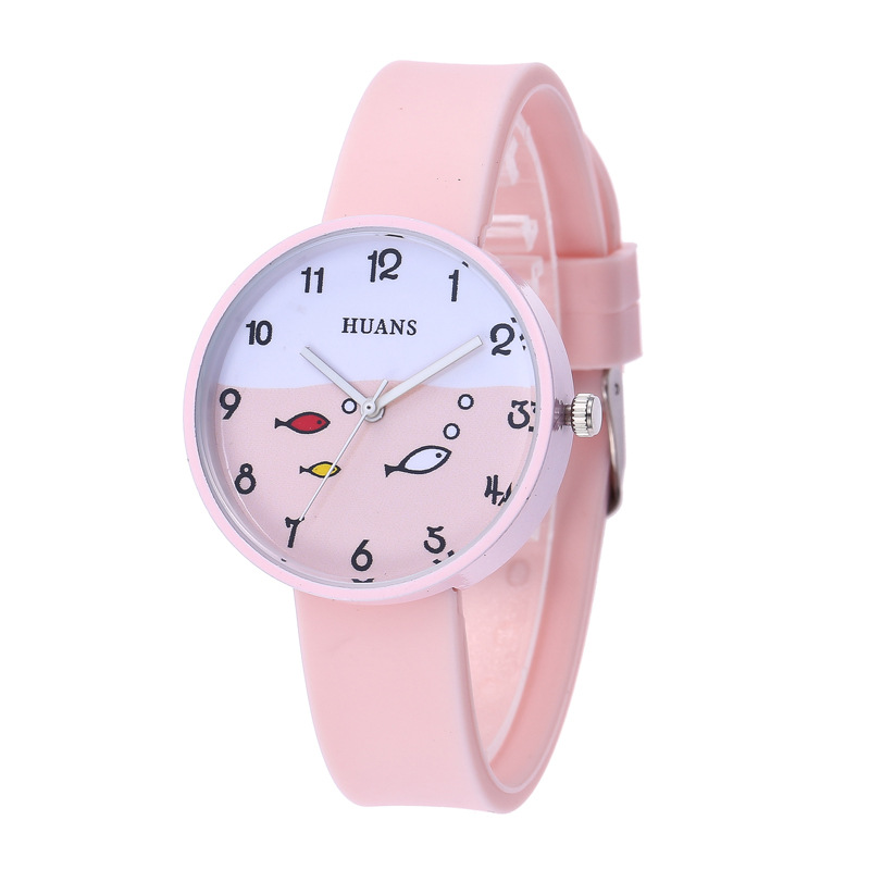 Fashion Children Students Watches Children Kids Watch Boys Girls Casual Cartoon Fish Design Quartz Wristband Kids Gifts