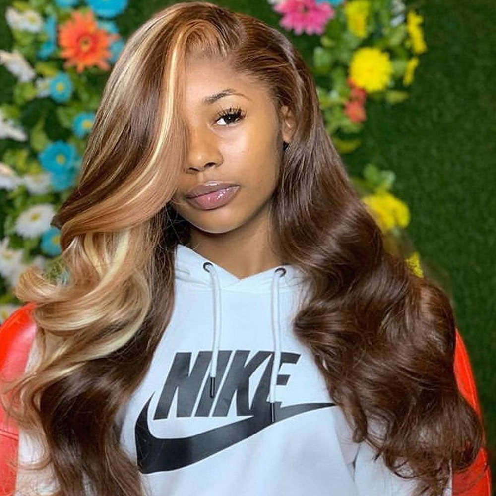 BEAUDIVA Pre-Colored Human Hair Weave P4/27 Body Wave 3/4  Bundles Non Remy Brazilian Body Wave Hair 95g Free Shipping