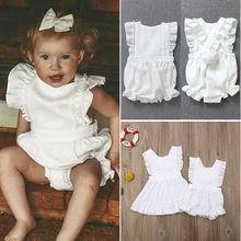 Brand New Toddler Infant Child Kid Baby Girl Stripe Off Shoulder Romper Jumpsuit Pocket Clothes Ruffled Sunsuit Outfit 0-24M