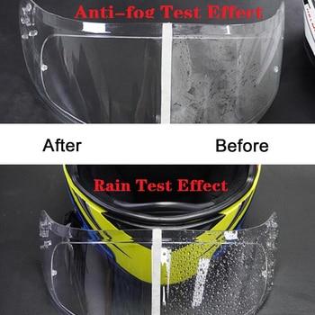 2PCS Motorcycle Helmet Film for K3 K4 AX8 HJC HD MT LS2 Helmets Film Motorcycle Anti-Fog+Rainproof Clear Patch Film Waterproof