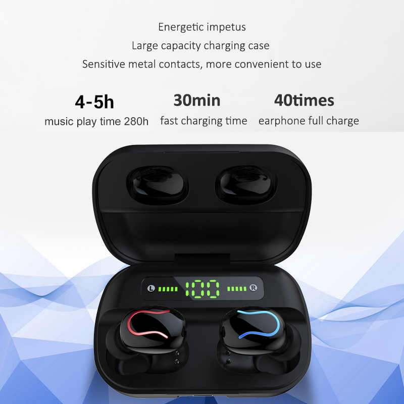 HBQ Q32-auriculares TWS, inalámbricos por Bluetooth 5,0, auriculares con cancelación de ruido para IPhone