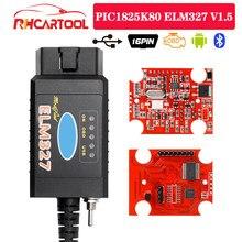 Outil de diagnostic automobile PIC1825K80 ELM327, USB V1.5, puce FTDI avec commutateur HS/MS OBD 2, pour Forscan et elm 327, Version usb