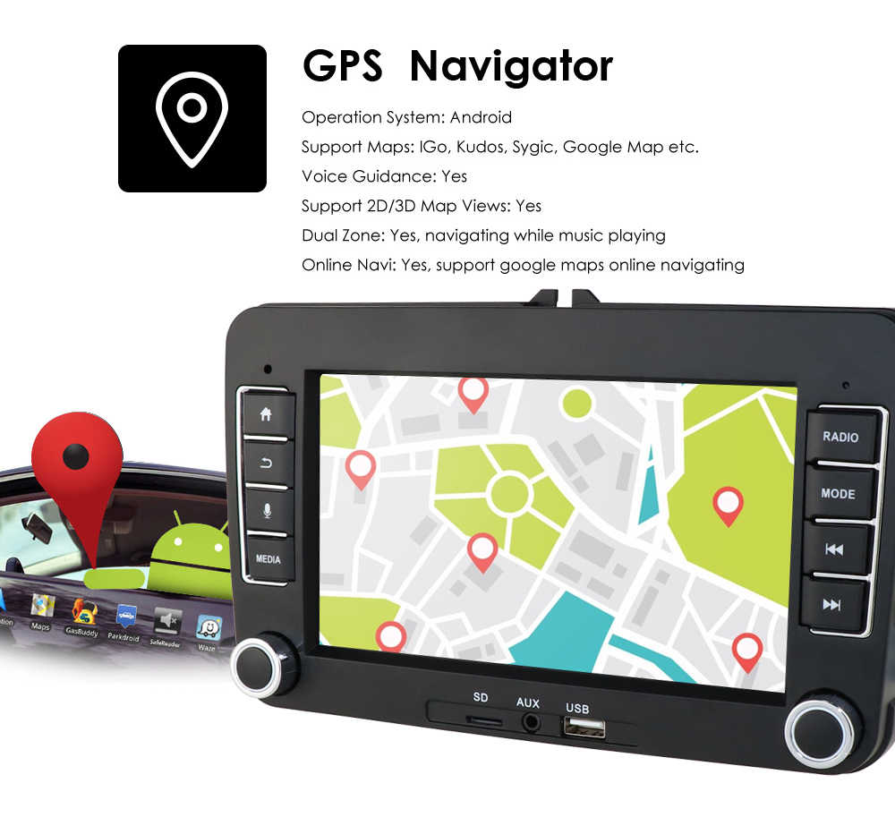 車ナビゲーションアンドロイド 9 2Din ラジオ GPS マルチメディアフォルクスワーゲンシュコダオクタためのゴルフ 5 6 トゥーランパサート B6 ポロティグアンイエティ迅速な
