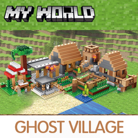 Castle Village Series My World Ghost Village Building Blocks Compatible Legoed Minecraftingly Bricks Toys For Children gifts