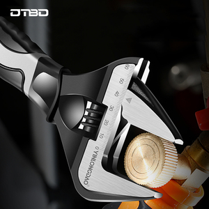 DTBD Adjustable Wrench Stainless Steel Universal Spanner Mini Nut Key Bathroom Wrench High Quality Plumbing Repair Tool