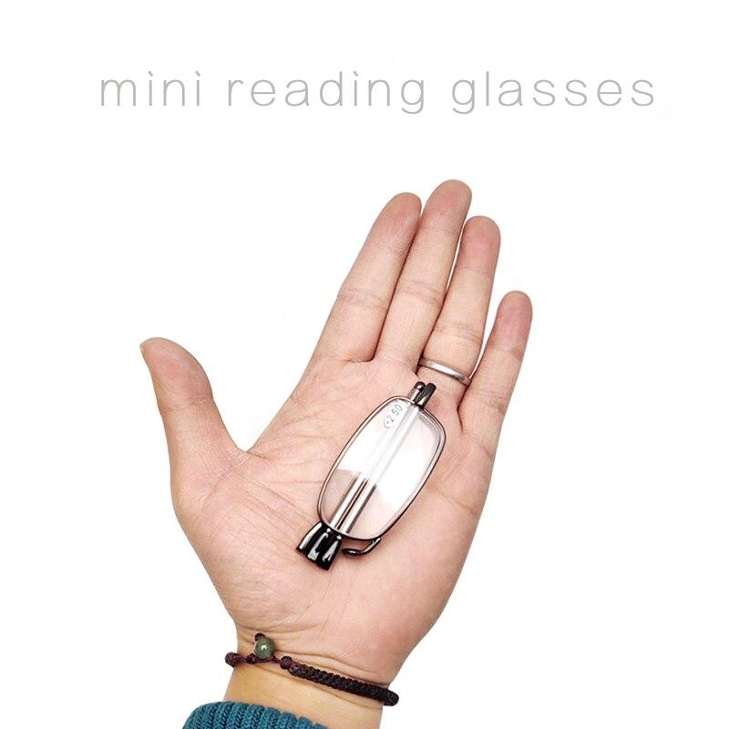 Reading Glasses Folding Men Stainless Steel Magnetic Box Presbyopic Glasses 1.00 1.50 2.00 2.50 3.00 3.50