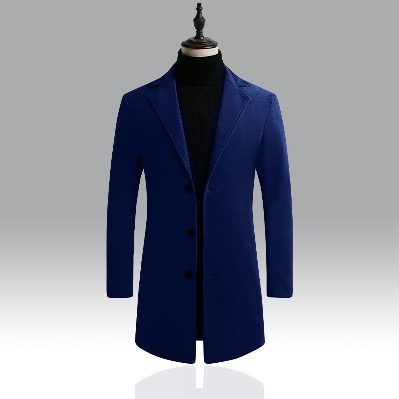 2019 Winter Wool Jacket Men Coat Casaco Homme Outwear Mens Coats Casual Jackets Male Blend Autumn Men's Windbreaker Brand