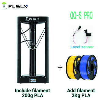 FLSUN QQ-S-PRO High speed Delta 3D Printer, Large Plus Size 255*360mm kossel 3d-Printer Upgrade Auto-leveling touch screen delta rostock mini kossel aluminum magnetic effector carriage kit silver color anodized for diy kossel 3d printer