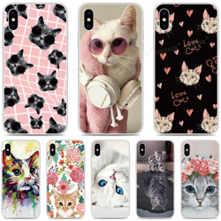 Soft Silicone Cute Cat Cover Cases For Doogee X95 X90 Y8C Mix 2 N20 Y9 Plus N10 Y7 Y8 X70 X60 X50 X30 X55 X60L X50L Phone Case
