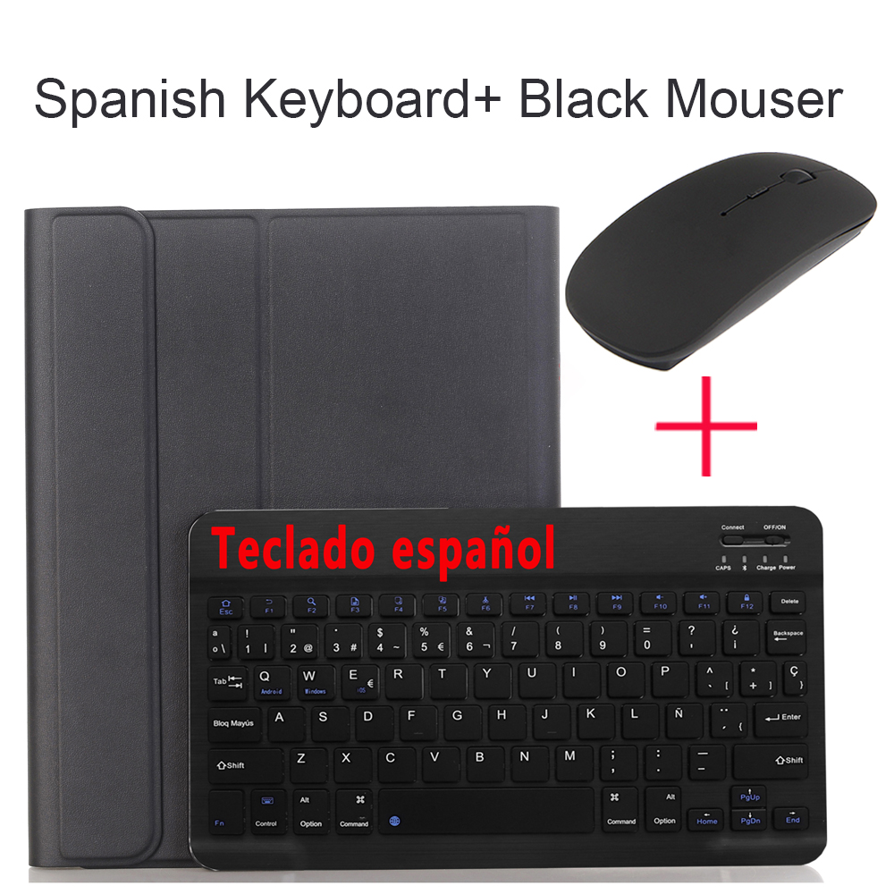 Spanish With Mouse Coffee For iPad Air4 10 9 2020 A2324 A2072 Keyboard Mouse Case English Russian Spanish Korean Keyboard