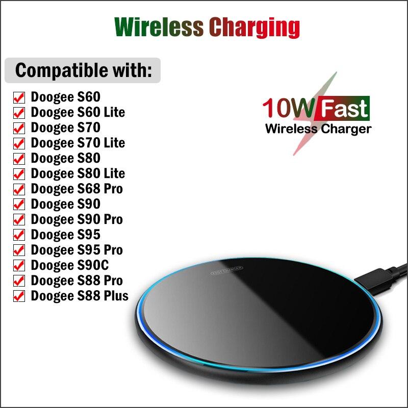 10 Вт быстрая Беспроводная зарядная площадка Qi Для Doogee S90 S90C S95 S68 S88 Pro Plus S60 S70 S80 Lite, беспроводная зарядная станция для телефона