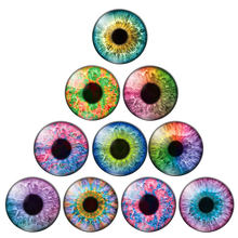 In Pairs Round Dome Dragon Doll Toy Eyes Photo Glass Cabochon 10-30mm DIY Jewelry Findings for Pendants Earrings Making