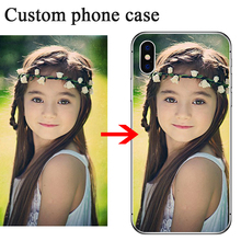 Custom Photo Black Case For Samsung Note 10 Plus 9 S10 S9 S8 S7 S6 Print Picture Cover For Samsung A50 A40 A30  A6 A7 A8  2018