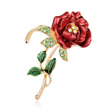 Drops of oil rose brooch fashion Joker temperament dark flower corsage quick selling spot