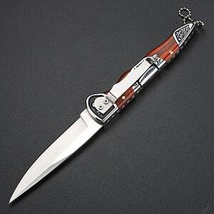 Image 4 - Складной нож высокой твердости, портативный уличный клинок, для кемпинга, охоты, самообороны