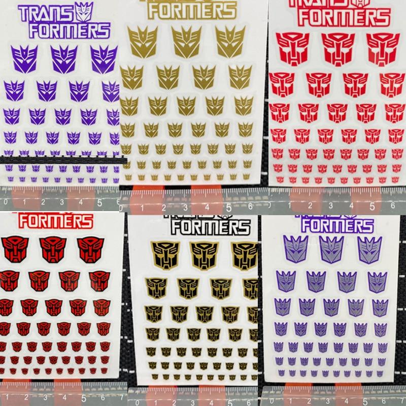 4 Styles Transformation Decepticons Autobots G1 Stickers 45+ Symbol Decal for Custom DIY Scene Accessories Decoration