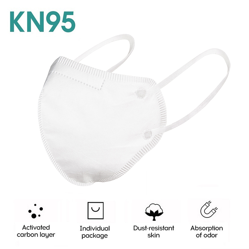 KN95 Face Masks Bacteria Proof Anti Infection KN95 FFP2 Masks Particulate Mouth Respirator Anti PM2.5 Safety Protective Mask