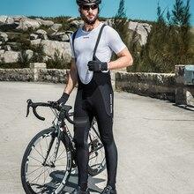 Santic Men Cycling Bib Pants 4D Padding Cushion Winter MTB Bike Warmful Long Warm Fleece M8C04104