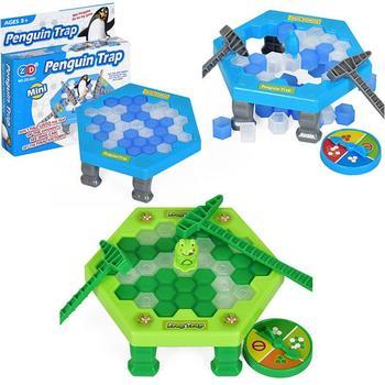 Mini Penguin Trap gra planszowa Ice Breaking Save The Penguin Party Game Interactive figurka zabawki stołowe Juguetes tanie i dobre opinie Liplasting CN (pochodzenie) Unisex 6 lat Micro building block Big building block( 1cm) Z tworzywa sztucznego