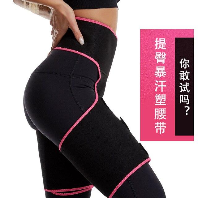 LAZAWG Leg Belt Sweat Thigh Trimmer Sweat Band Leg Slimmer Weight Loss Neoprene Gym Workout Corset Thigh Slimmer Tone Legs Strap 3