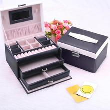 New Jewelry Box Large Capacity Leather Storage Jewelry Box Earring Ring Necklace Display Box Jewelry Necklace Case Organizer babyliss pro машинка для стрижки волос barbers spirit fx880e
