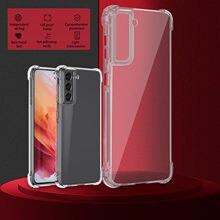 Capa de telefone clara para samsung galaxy s21/s21 ultra/s21 plus 5g transparente reforçada cantos tpu caso capa de telefone para samsung #3