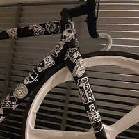 60&100pcs bicycle stickers waterproof reusable bike protection decoration stickers bike vinyl decal bmx scooter bicycle parts