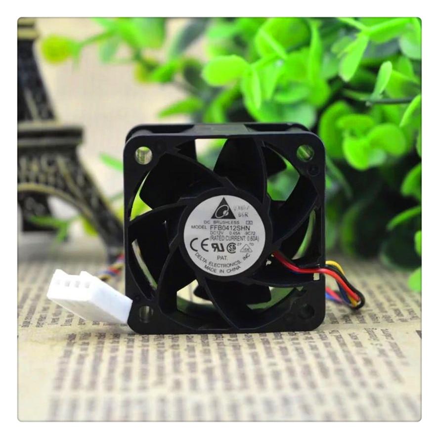 For Delta FFB0412SHN PWM temperature control 12V 0.45A 1u2u server fan 4pin