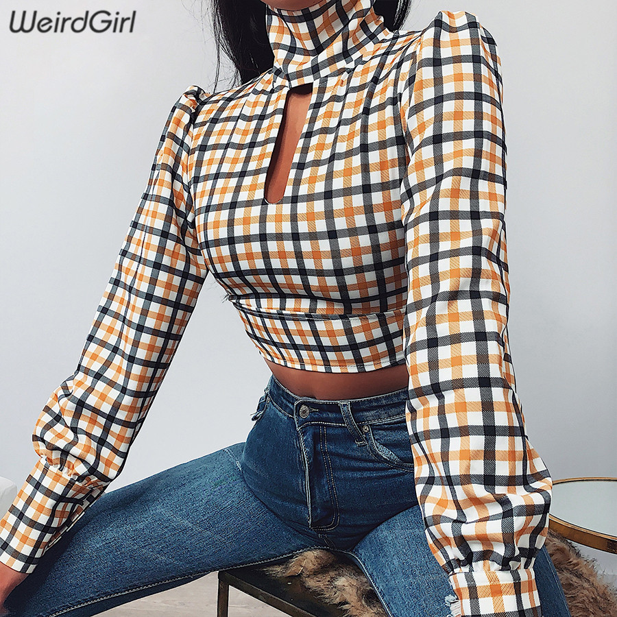 Weirdgirl Women Paid Hollow Out Sexy T-shirts Long Sleeve Backless Butterfly Knot Bow Slim Female Tees Harajuku Short Tops 2020